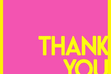 Thanksgiving, thank you, pink, yellow, graphic design, saying thanks
