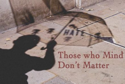 Umbrella, shadow, sidewalk, shadow person, haters, quotes