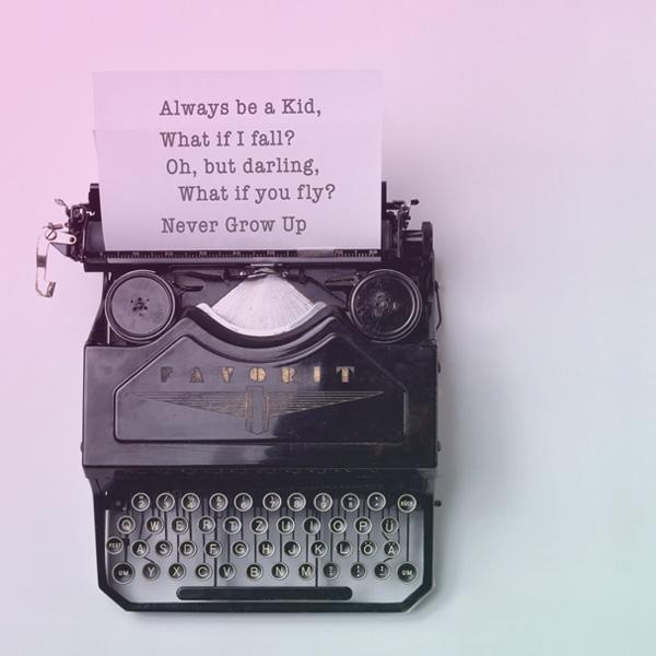 Typewriter message never grow up