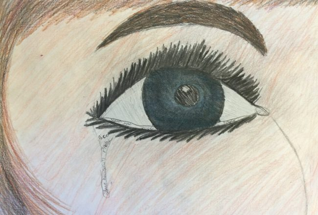 Girl crying, Tear Drop, Sad, School